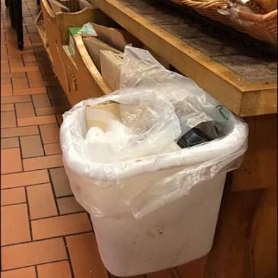 Levitating White Waste Basket Man