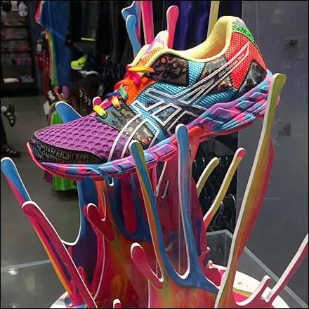 Making a Splash in ASICS Sneakers