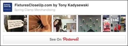 Spring Clamp Merchandising Pinterest Board