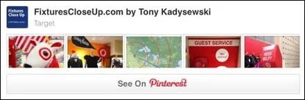 Target FixturesCloseUp Pininterest Board