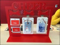 Clear Plastic Slotwall Hooks for Gift Card Xmas 2