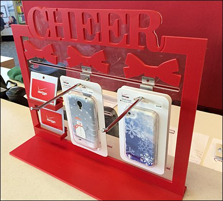 Clear Plastic Slotwall Hooks for Gift Card Xmas Main