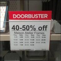 Doorbusters Reversable Sign Header 1