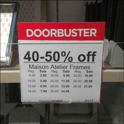 Doorbusters Reversable Sign Header 1