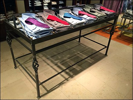 Wrought Iron for Retail Table