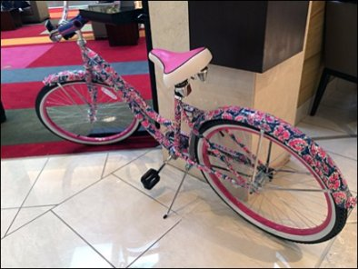 Lilly Pulitzer Bike Cancer Awareness 3
