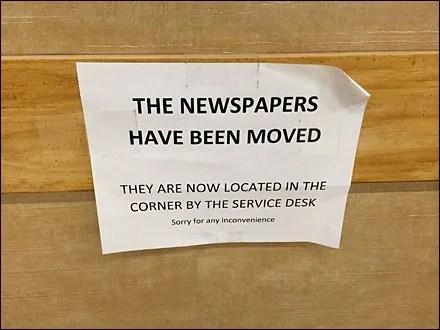 Newspaper Store Fixtures - Newspaper Product Migration CloseUp