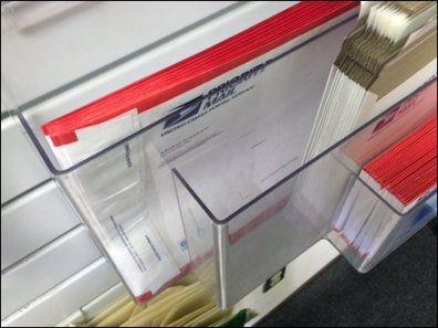 USPS Multi-Pocket Slatwall Rack