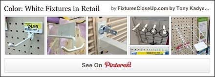 White Fixtures in Retail FixturesCloseUp Pinterest Board