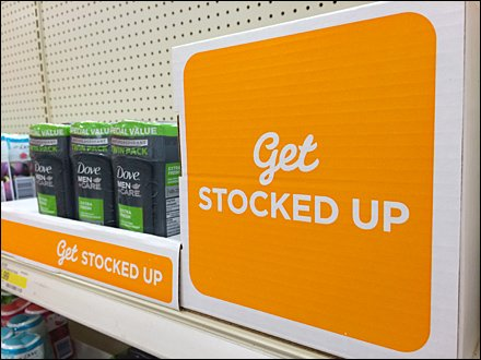 Get-Stocked-Up Retail Sign Cube