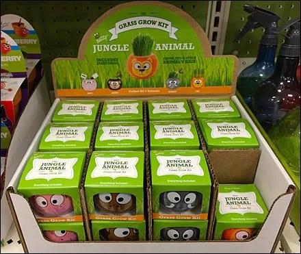 Grass Grow Divot Repair Kit for Kids - Grass Grow Jungle Animals