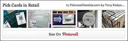 Pick Cards in Retail FixturesCloseUp Pinterest Board