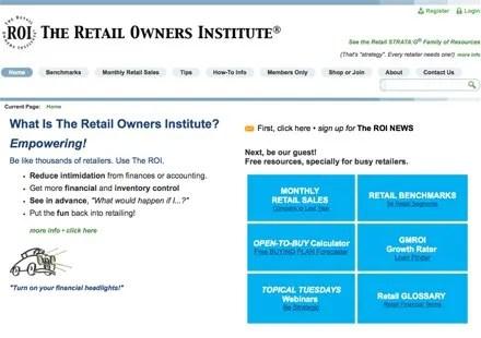 Retail Owners Institute Website