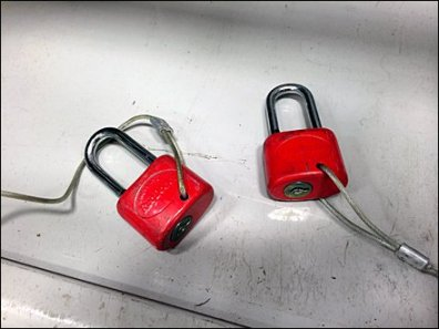 RugDocter Tethered Anti-Theft Locks Aux