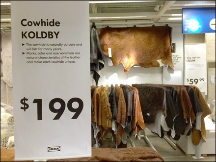 Cowhide Merchandising at IKEA