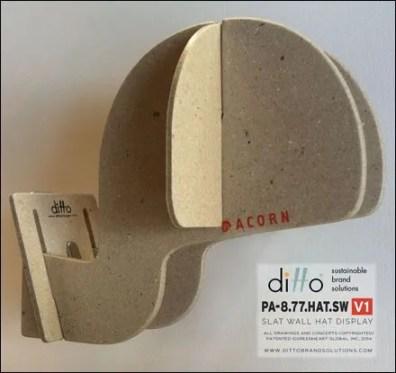 Ditto Sustainable Slatwall Headform 2