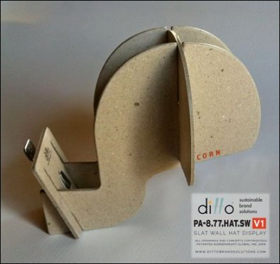 Ditto Sustainable Slatwall Headform 3