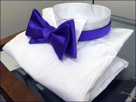 Full-Dress Purple Bow Tie Angled