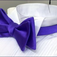 Full-Dress Purple Bow Tie CloseUp