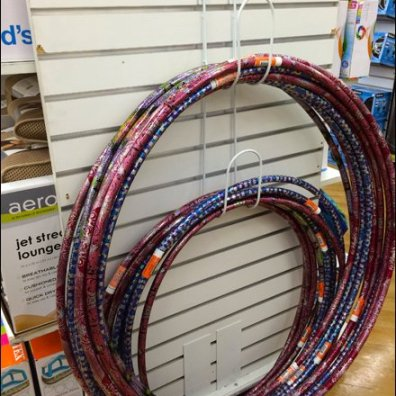 Hula Hoop Hook for Endcap Display