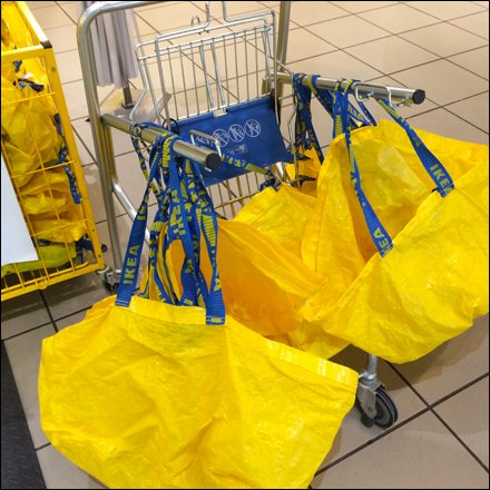 Ikea Bag Cart For Shopping Fixtures Close Up