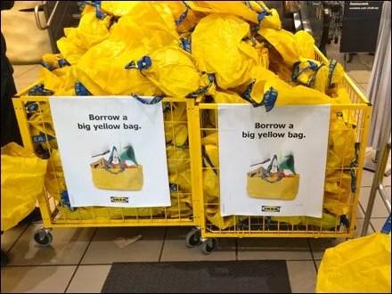 Borrow a Big Yellow Bag at IKEA