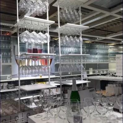 IKEA Ceiling Hung Glassware 1