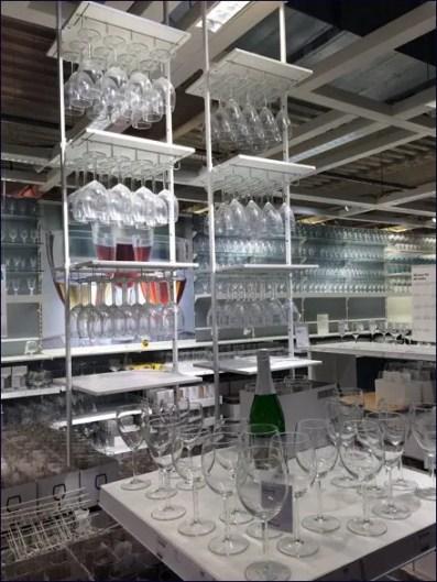 IKEA Ceiling-Hung Glassware Rack