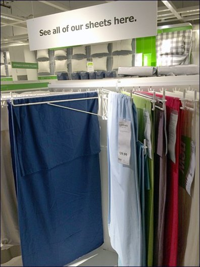 IKEA Linen Display Arms Main