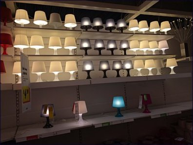 IKEA Massed Gallery of Lamps 2