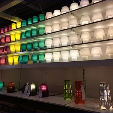 IKEA Massed Gallery of Lamps 3