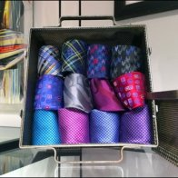 Robert Graham Perforated Tie Box Aux