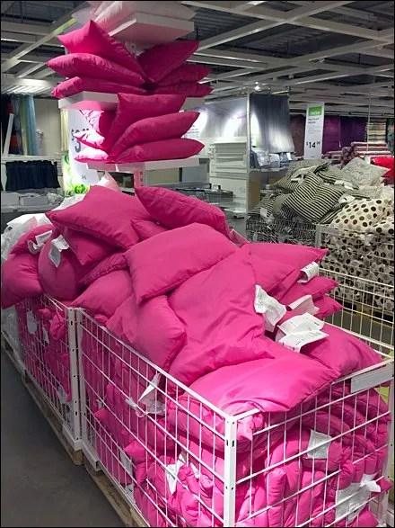 IKEA Ceiling and Bin Pillow Display Main