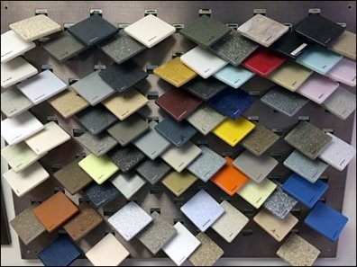 Corian Tip-on Tile Sample Display