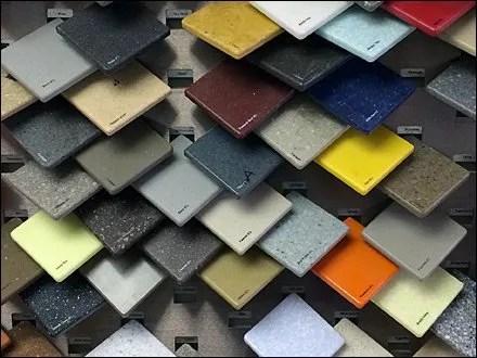 Corian Tip On Tile Sample Display Fixtures Close Up