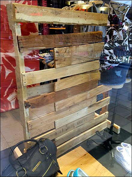 New Life for Wood Pallets - Fixtures Close Up