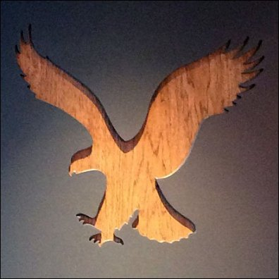 American Eagle Logo Brand Recognition Closeup