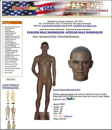 Barack Obama Mannequin Main