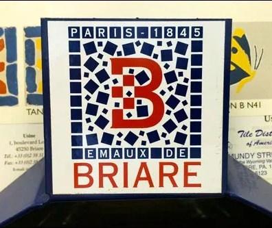 Briare Tile Logo and Tile Branding Sample Card
