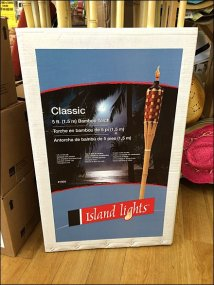Island Lights Tiki Torch POP Closeup