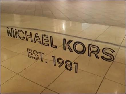 Michael Kors Metal Engraved Closeup