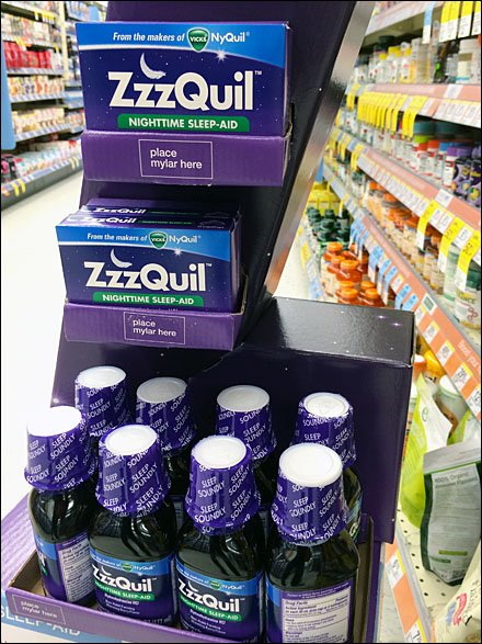 ZzzQuil Corrugated Z Display