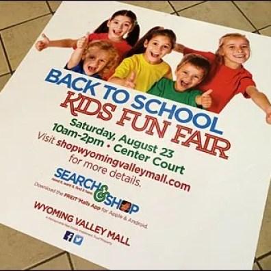Back to School Kids Fun Fair Floor Graphic