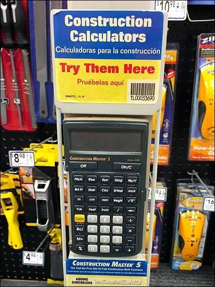 Shelf-Edge Calculator Try-Me