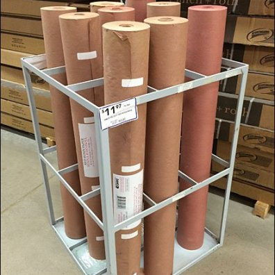 Gridded Floor Quiver for Red Rosin Paper Rolls Aux