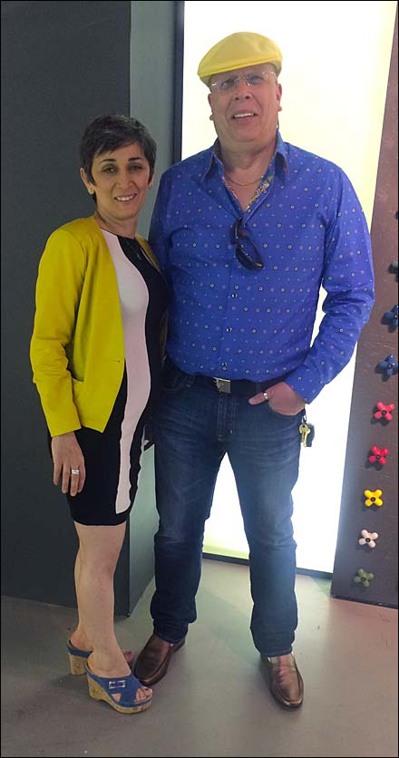 Margarit and Tony Kadysewski at Fantini Aux