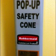 Rubbermaid Pop-Up Safety Cone Detail