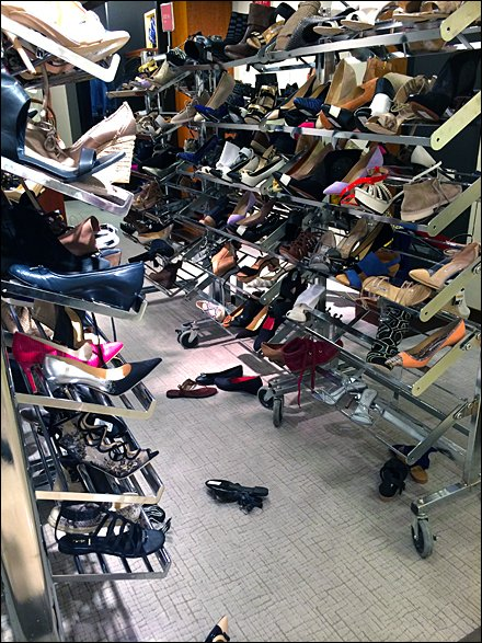 Shoe Aisle Carnage in Retail