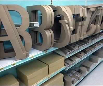Angled Alphabetic Shelf Dividers 1