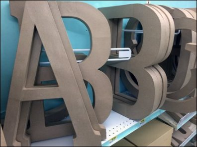Angled Alphabetic Shelf Dividers 2